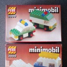 Juegos construcción - Lego: LOTE CAJAS PEBE 2000 MINIMOBIL TIPO LEGO. Lote 288342083