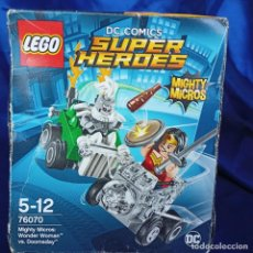 Juegos construcción - Lego: LEGO 76070 WONDER WOMAN VS. DOOMSDAY (DC COMICS MIGHTY MICROS). NUEVO,. Lote 288662363