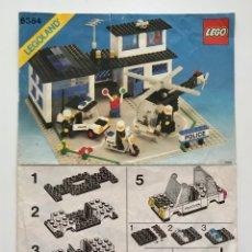Juegos construcción - Lego: LEGO INSTRUCCIONES DEL 6384: POLICE STATION (1983). VINTAGE LEGOLAND SYSTEM TOWN. COMISARIA POLICÍ. Lote 295521478
