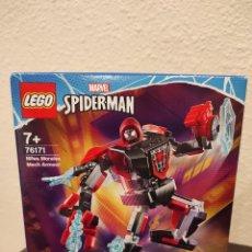 Juegos construcción - Lego: ARMADURA ROBÓTICA DE SPIDER-MAN MILES MORALES 76171 -LEGO MARVEL- NUEVO, PRECINTADO. Lote 296622943
