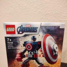Juegos construcción - Lego: ARMADURA ROBÓTICA DE CAPITÁN AMÉRICA 76168 -LEGO MARVEL- NUEVO, PRECINTADO. Lote 296623083