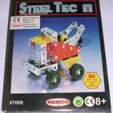 Juegos construcción - Meccano: STEEL TEC * BIZAK * REMCO . Nº 7006 CAMION GRUA. 154 PIEZAS. NUEVO!!!. Lote 25205232