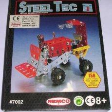 Juegos construcción - Meccano: STEEL TEC * BIZAK * REMCO . Nº 7002 TRACTOR. 156 PIEZAS. NUEVO!!!. Lote 25205236