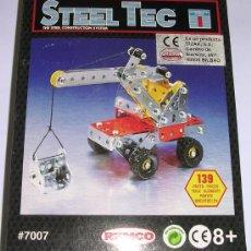 Juegos construcción - Meccano: STEEL TEC * BIZAK * REMCO . Nº 7007 GRUA. 139 PIEZAS. NUEVO!!!. Lote 25205235