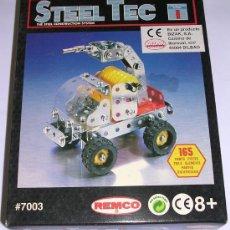 Juegos construcción - Meccano: STEEL TEC * BIZAK * REMCO . Nº 7003 VEHICULO ANTIDISTURBIOS. 165 PIEZAS. NUEVO!!!. Lote 25205216