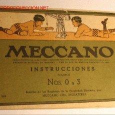 Juegos construcción - Meccano: MECCANO INSTRUCCIONES ( Nº 589 ) . EQUIPOS NºS 0 A 3 (1958). Lote 26955284