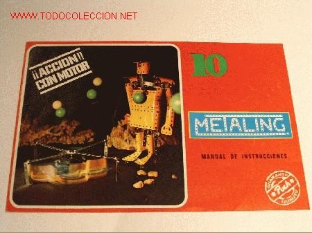 MECCANO DE METALING. MANUAL DE INSTRUCCIONES Nº 10. POCH. 1970. (Juguetes - Construcción - Meccano)