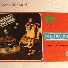 Juegos construcción - Meccano: MECCANO DE METALING. MANUAL DE INSTRUCCIONES Nº 10. POCH. 1970.. Lote 27525697