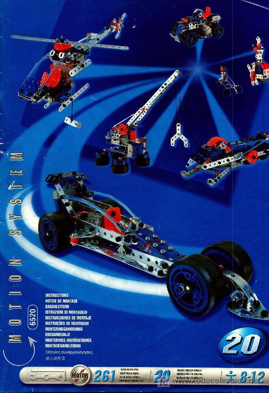 MECCANO : MOTION SYSTEM REF. 6520. 20 MODELOS CON 261 PIEZAS. MOTOR (Juguetes - Construcción - Meccano)