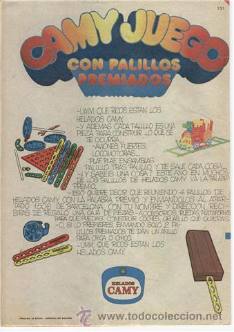Juegos construcción - Meccano: 2 PIEZAS DEL MECANO DE HELADOS CAMY CAMYJUEGO, , NO PANRICO - Foto 3 - 12898160