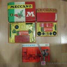 Juegos construcción - Meccano: DOS JUEGOS DE MECCANO INCOMPLETOS MAS UN CATALOGO. Lote 25095826