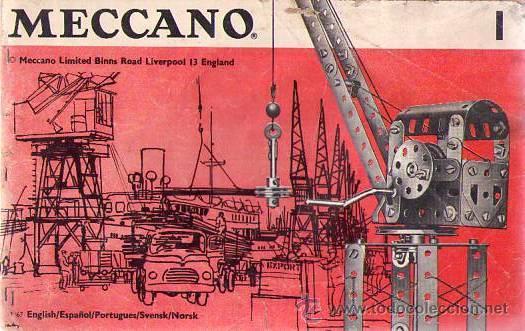 MECCANO 1 (MANUAL DE PIEZAS) (Juguetes - Construcción - Meccano)