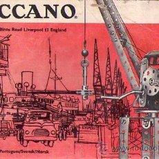 Juegos construcción - Meccano: MECCANO 1 (MANUAL DE PIEZAS). Lote 24069367