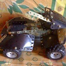 Juegos construcción - Meccano: QUAD DE 4 RUEDAS,CON MOTOR MECANO. Lote 27422078