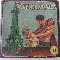 Juegos construcción - Meccano: CAJA MECCANO PEQUEÑA 0 VACIA DE CARTÓN. Lote 19807199