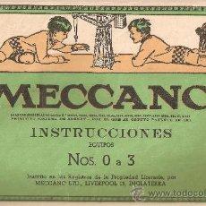 Juegos construcción - Meccano: INSTRUCCIONES MECCANO EQUIPOS .,Nº 0 A 3.EN ESPAÑOL.Nº 545. Lote 26726790