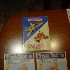 Jeux construction - Meccano: MANUAL DE MECCANO (MANUAL JUNIOR) Y 2 MANUALES DE STEEL TEC (REMCO). . Lote 23579530
