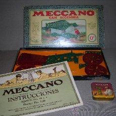 Juegos construcción - Meccano: (M) MECCANO 0A - CAJA ACCESORIA CON UNA CAJA METALICA DE MECCANO Y CATALOGO DE INSTRUCCIONES. Lote 26886210