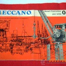 Juegos construcción - Meccano: MECCANO - MANUEL D'INSTRCTIONS - POUR BOÎTES 0 -1 - IMPRESO EN INGLATERRA - 01/62. Lote 27621929