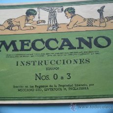 Juegos construcción - Meccano: MECCANO. INSTRUCCIONES EQUIPOS Nº 0 A 3. Nº 531. 107 PAGINAS. Lote 27522941
