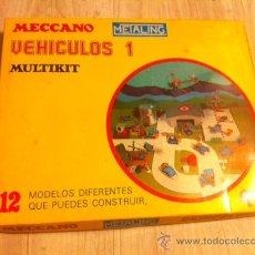 Jeux construction - Meccano: MECCANO METALING VEHICULOS 1 DE POCH MULTIKIT MECANO DE 1975 CON INSTRUCCIONES. Lote 28780448