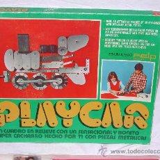 Juegos construcción - Meccano: JUEGO PLAYCAR - CONSTRUYE TU CUADRO EN RELIEVE LOCOMOTORA - FELP - AÑOS 70. Lote 29707748