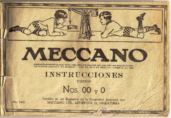 MECCANO - INSTRUCCIONES EQUIPOS 00 Y 0 (Juguetes - Construcción - Meccano)