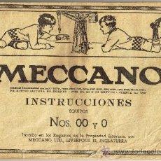 Juegos construcción - Meccano: MECCANO - INSTRUCCIONES EQUIPOS 00 Y 0. Lote 31674646