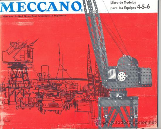 LIBRO DE MODELOS PARA LOS EQUIPOS 4-5-6 DE MECCANO (Juguetes - Construcción - Meccano)