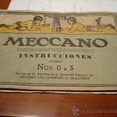 Juegos construcción - Meccano: MECCANO INSTRUCCIONES NOS. 0 A 3. Lote 37986493