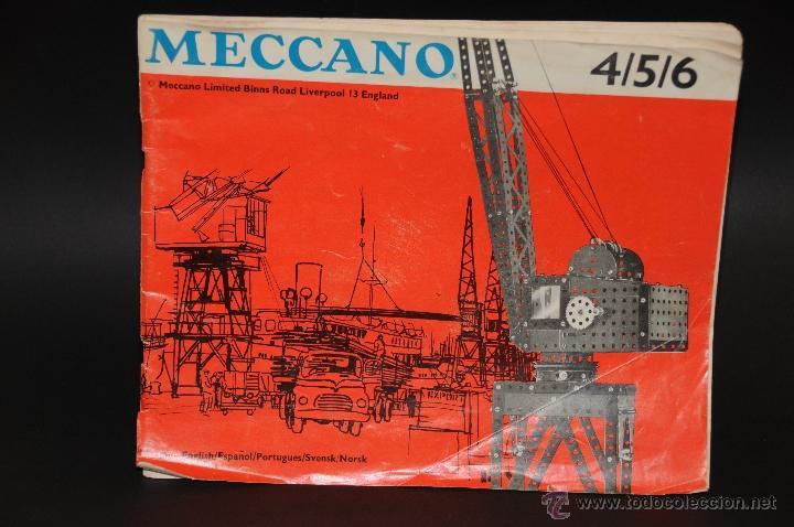 CATALOGO DE INSTRUCCIONES DE MONTAJE MECCANO 4/5/6 456/64 (Juguetes - Construcción - Meccano)