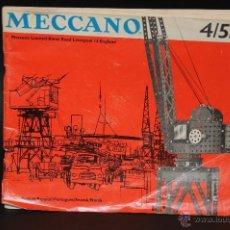 Juegos construcción - Meccano: CATALOGO DE INSTRUCCIONES DE MONTAJE MECCANO 4/5/6 456/64. Lote 40740701