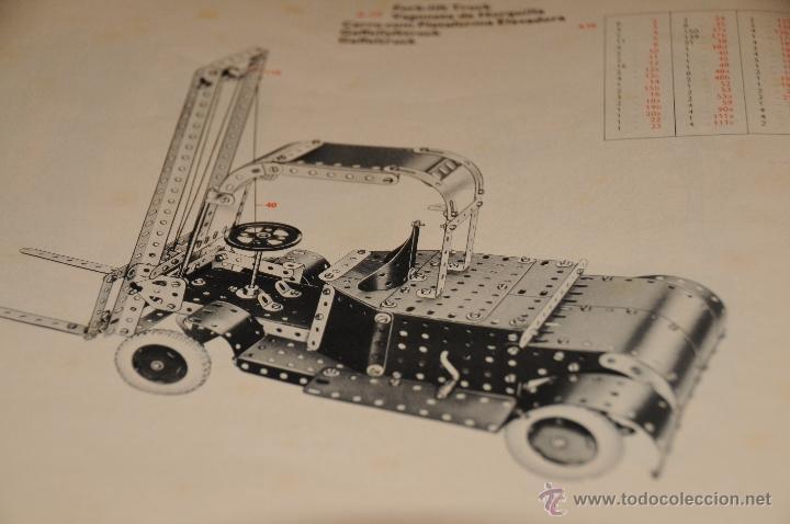 Juegos construcción - Meccano: CATALOGO DE INSTRUCCIONES DE MONTAJE MECCANO 4/5/6 456/64 - Foto 4 - 40740701