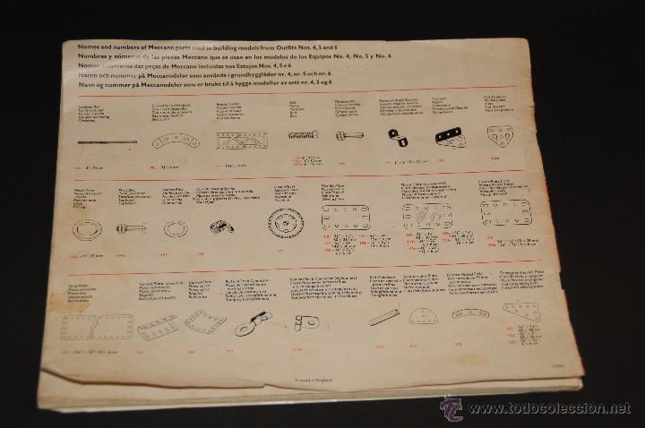 Juegos construcción - Meccano: CATALOGO DE INSTRUCCIONES DE MONTAJE MECCANO 4/5/6 456/64 - Foto 12 - 40740701