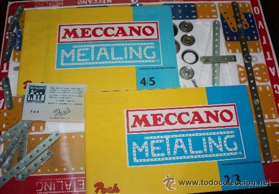 Juegos construcción - Meccano: MECCANO (METALING) nº 4 de 1970 :completo y precintado (sin uso). - Foto 2 - 41640487