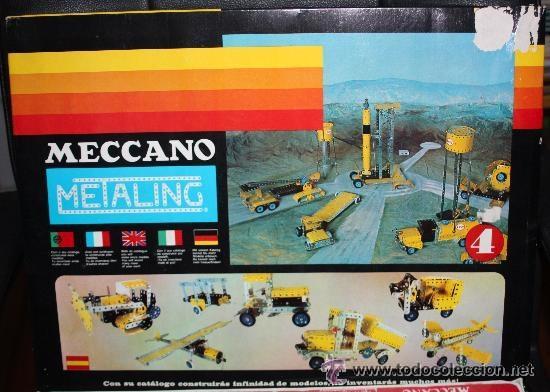 Juegos construcción - Meccano: MECCANO (METALING) nº 4 de 1970 :completo y precintado (sin uso). - Foto 3 - 41640487