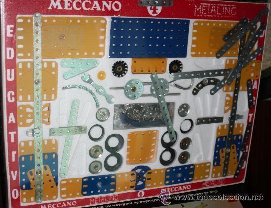 Juegos construcción - Meccano: MECCANO (METALING) nº 4 de 1970 :completo y precintado (sin uso). - Foto 5 - 41640487