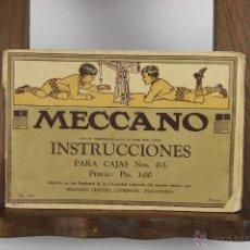 Juegos construcción - Meccano: D-356. MECCANO. INSTRUCCIONES PARA CAJAS 0 A 3. EDIT. MECCANO. Nº 27 A. AÑOS 50. . Lote 42769791