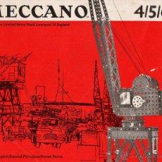Juegos construcción - Meccano: MANUAL INSTRUCCIONES - MECCANO 4/5/6 - EN ESPAÑOL Y 4 IDIOMAS MAS - VER FOTOS - AÑO 1966. Lote 105860895