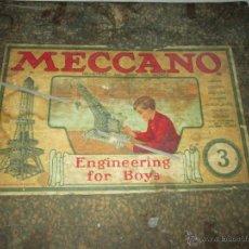 Juegos construcción - Meccano: Aº JUGUETE-CONSTRUCCIÓN-MECCANO Nº 3-INGLÉS-COMPLETO-1920?-MUCHAS PIEZAS- Y DESCRIPCIÓN. Lote 45058762