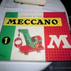 Juegos construcción - Meccano: ANTIGUA CAJA MECANO MODELO 1 CON LIBRETO DE INSTRUCCIONES EN ESPAÑOL INGLES PORTUGUES..LEER DESCRIPC. Lote 46333467