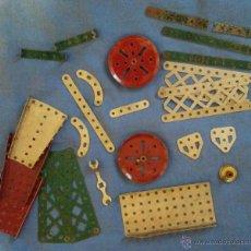 Juegos construcción - Meccano: LOTE PIEZAS MECCANO INGLES INGLATERRA ANGLATERRE 1913.. Lote 47846606