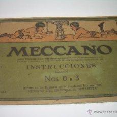 Juegos construcción - Meccano: ANTIGUO LIBRO DE INSTRUCCIONES MECCANO....105 PAGINAS..COMPLETO.. Lote 50801070