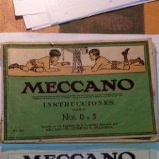 Juegos construcción - Meccano: CATALOGO INSTRUCCIONES MECCANO - NOS. O A 3 - Y TARIFA DE PRECIOS ORIGINAL AÑOS 50. Lote 53343227