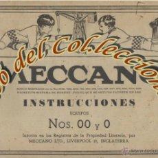 Juegos construcción - Meccano: MECCANO, LIBRO DE INSTRUCCIONES PARA EQUIPOS NS. 00 Y 0 , NUMERO 40.2. Lote 53466439
