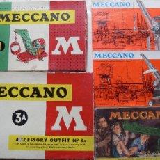Juegos construcción - Meccano: LOTE 2 MECCANO + 3 LIBITOS. Lote 53864880