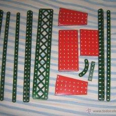 Juegos construcción - Meccano: LOTE PIEZAAS MECCANO. Lote 107009464