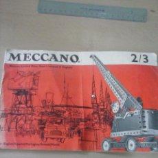 Juegos construcción - Meccano: INSTRUCCIONES DE MECCANO.. Lote 54142949