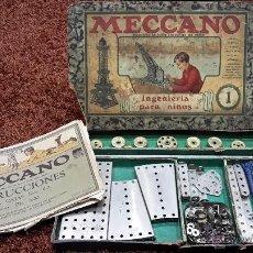 Juegos construcción - Meccano: MECCANO NUM 1 AÑOS 20 MADE ENGLAND EDICION ESPAÑOLA. Lote 54516522