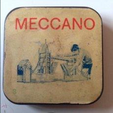 Juegos construcción - Meccano: CAJA DE METAL MECCANO VACIA. Lote 54727115